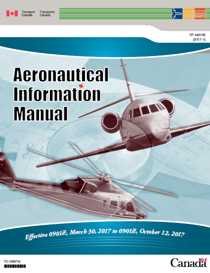 TC Aeronautical Information Manual