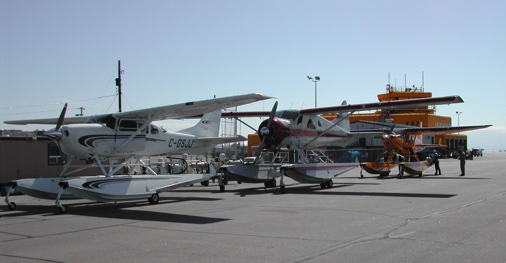 An unusual sight... float planes at CYFB